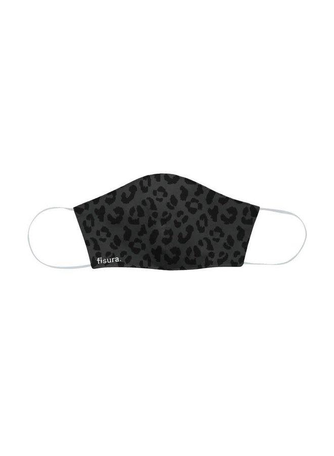 "Mondkapje - Antiviral-Fabric Face Mask ""Black Cheetah"""