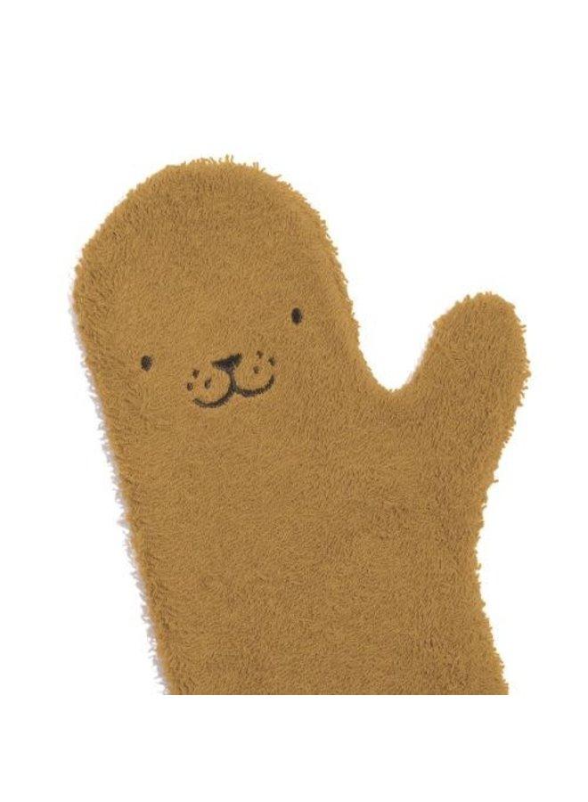 Invented4kids - Baby shower glove - Caramel - Seal