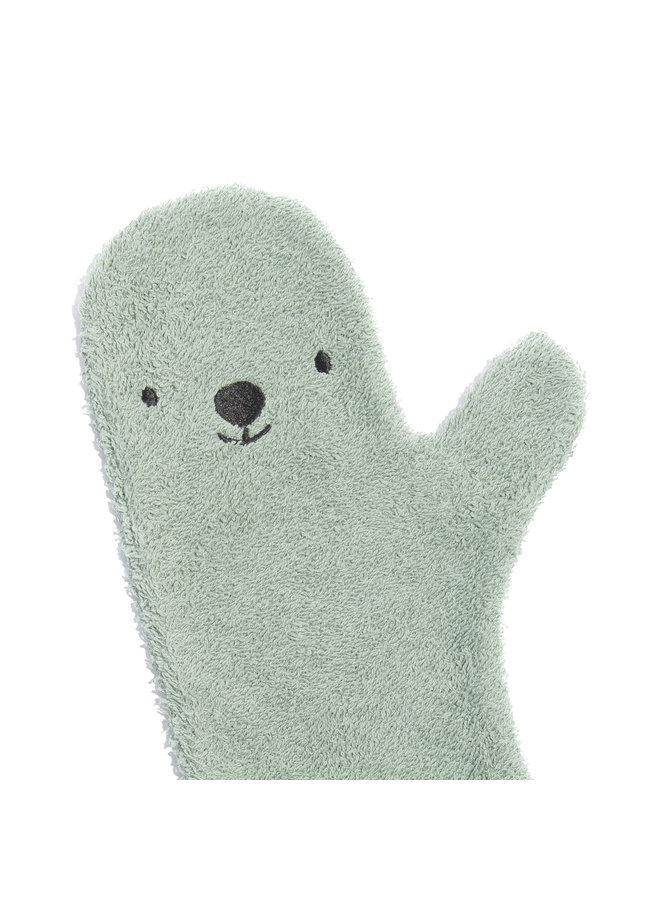 Baby shower glove - Green - Bear