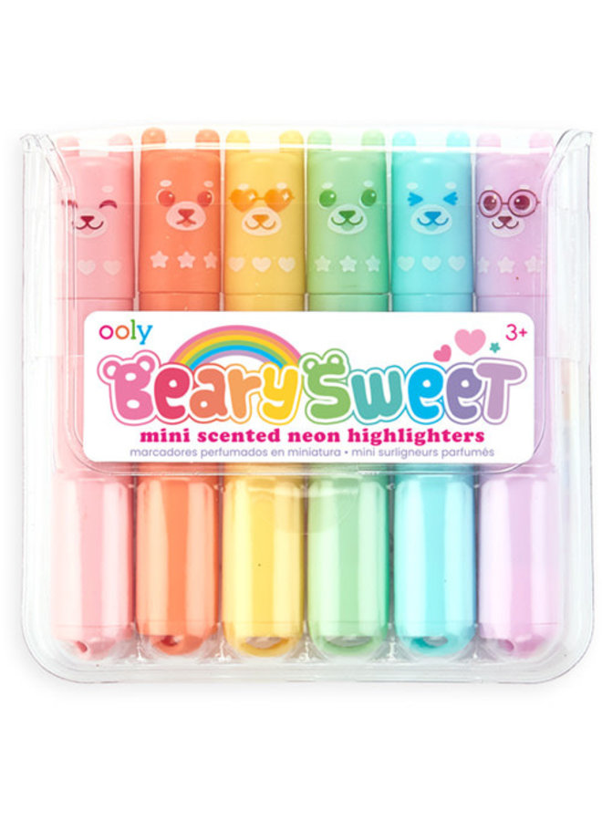 Ooly - Beary Sweet Mini Scented Highlighters