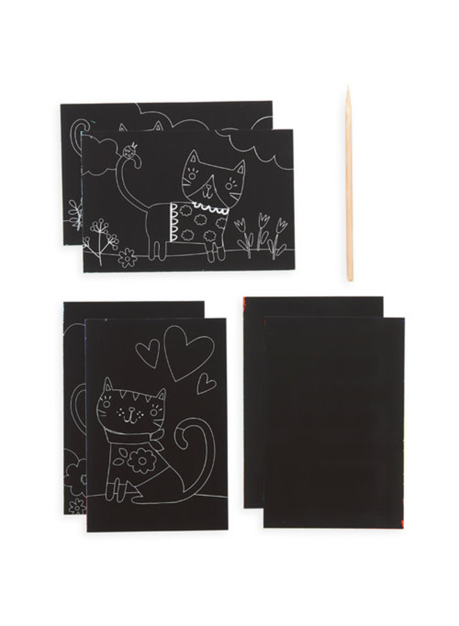 Ooly - Mini Scratch & Scribble Art Kit - Cutie Cats