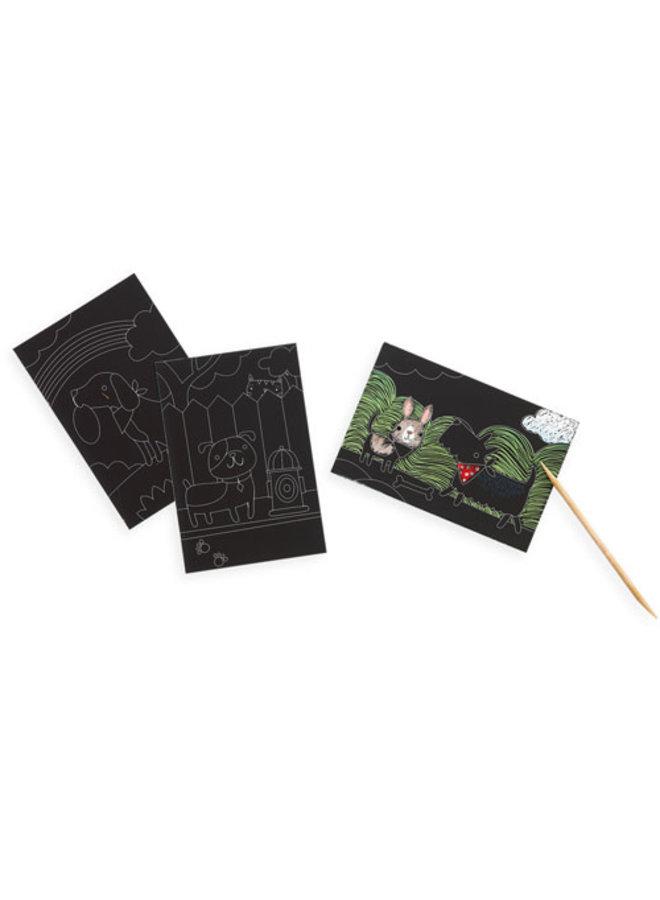Ooly - Mini Scratch & Scribble Art Kit - Playful Pups