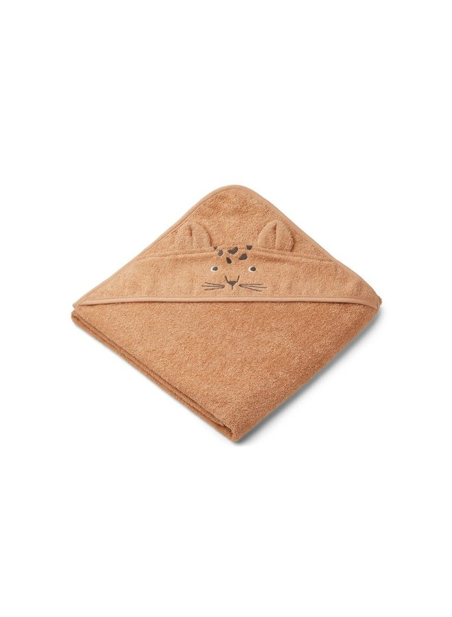 Augusta Hooded Towel - Leopard apricot