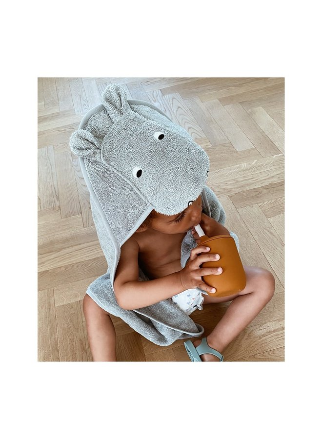 Liewood - Augusta Hooded Towel - Hippo dove blue