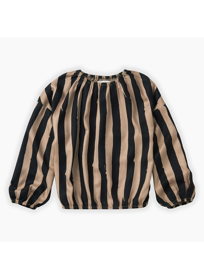 Blouse Painted Stripe - Sesame