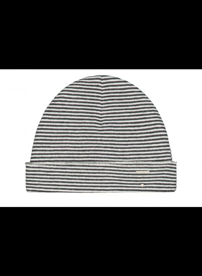 Gray Label - Baby Beanie - Nearly Black / Cream