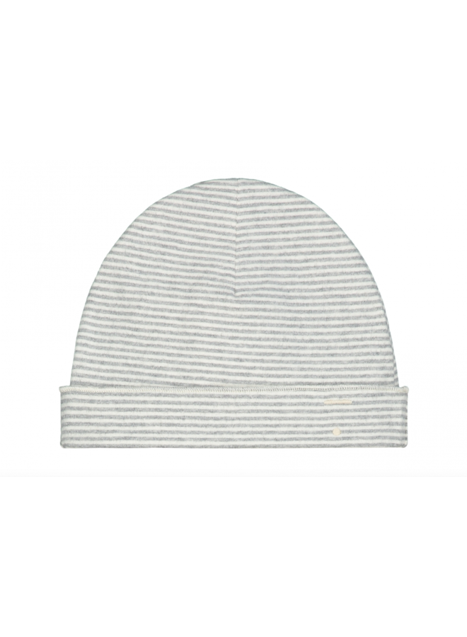 Baby Beanie - Grey Melange / Cream