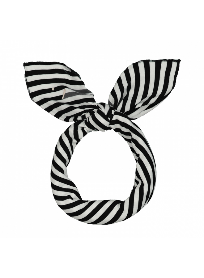 Head Scarf - Nearly Black / Off White