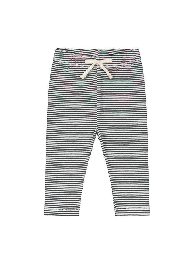 Baby Leggings - Nearly Black / Cream