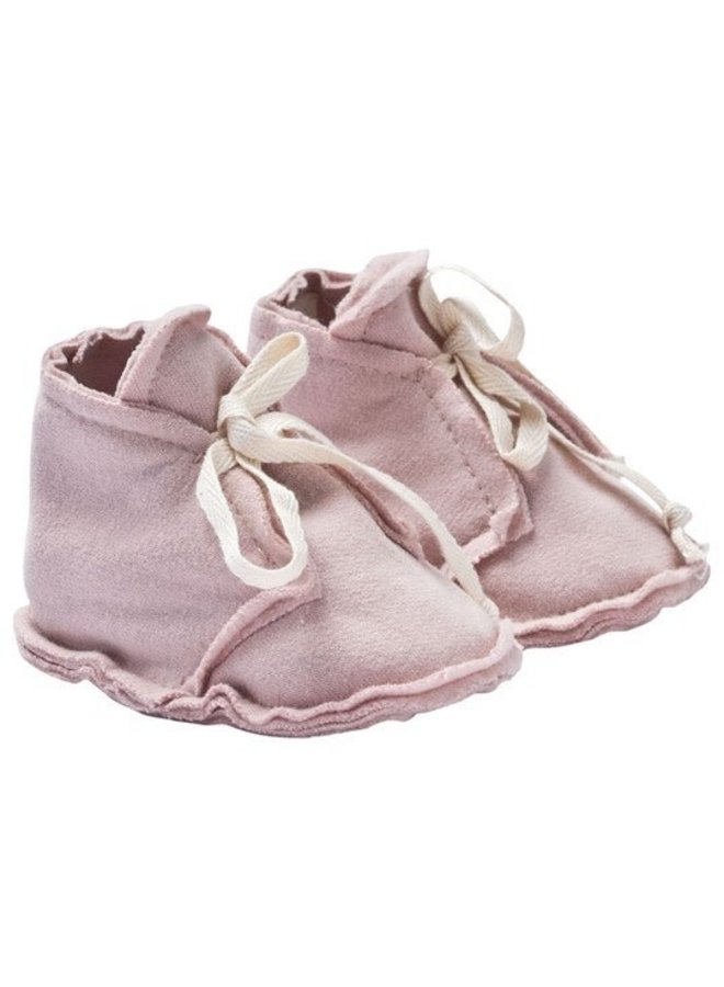 Gray Label - Baby Raw Edged Booties - Vintage Pink