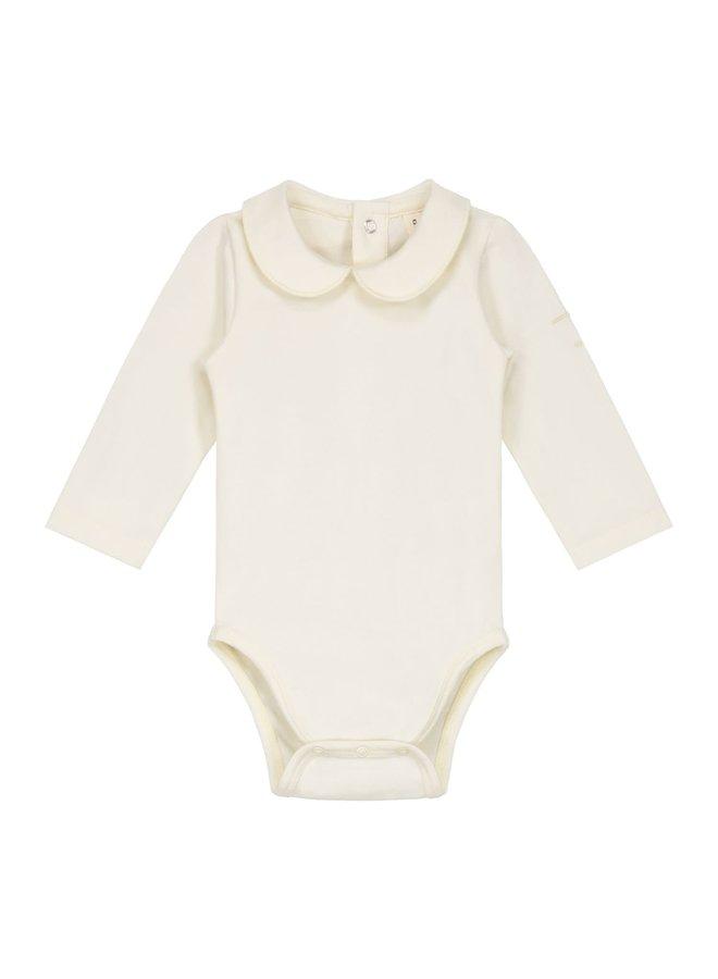 Baby Collar Onesie - Cream