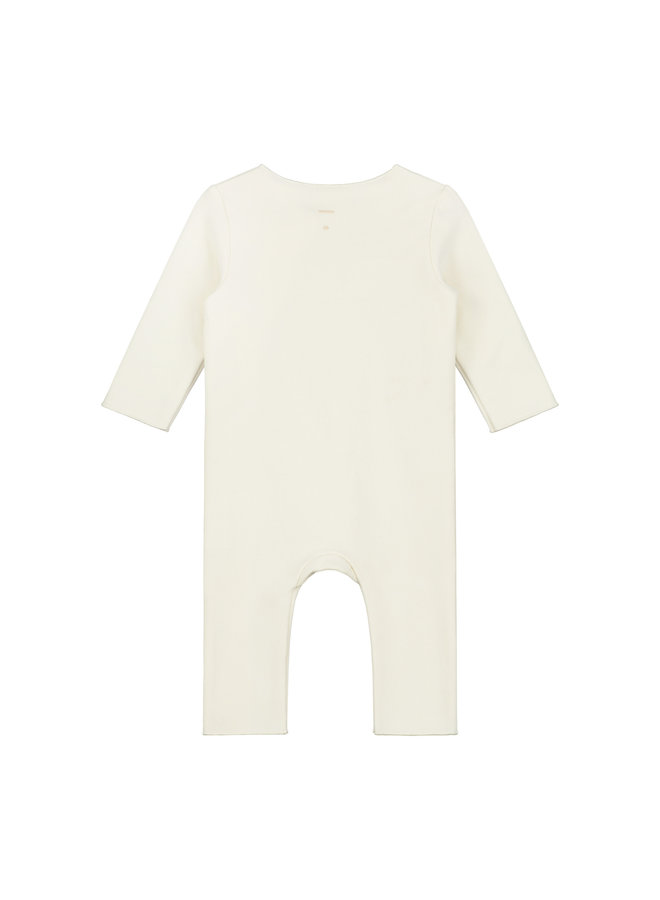 Baby Suit with Snaps - Cream