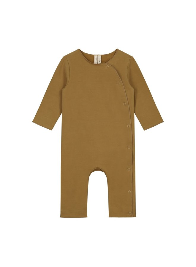 Baby Suit with Snaps - Peanut
