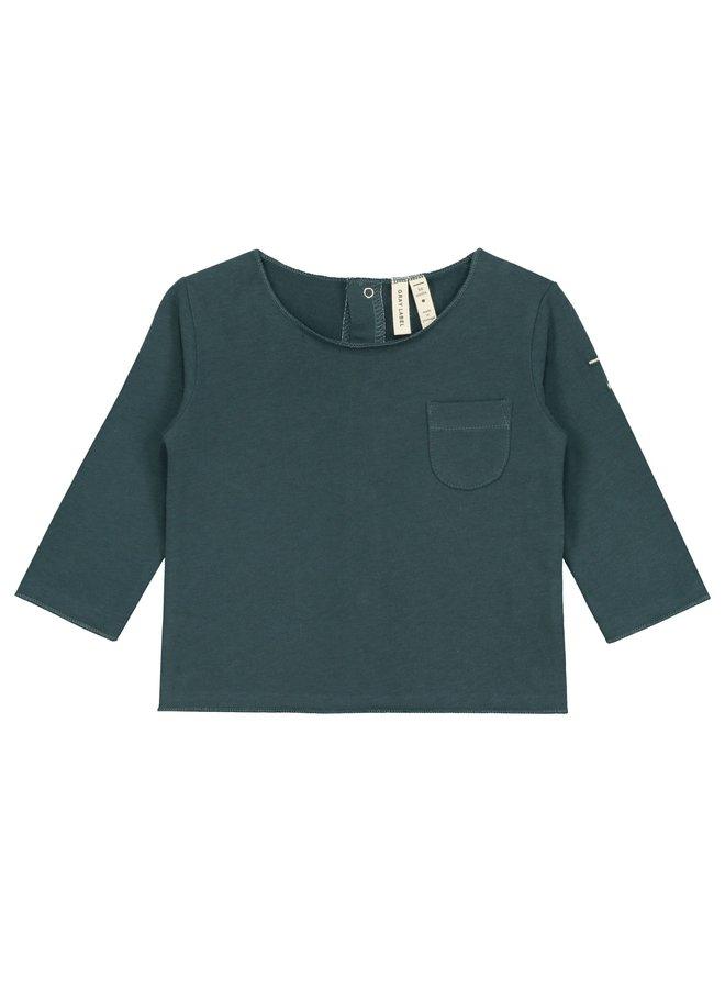 Baby L/S Tee - Blue Grey