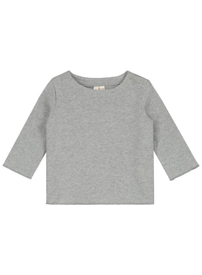 Baby L/S Tee - Grey Melange