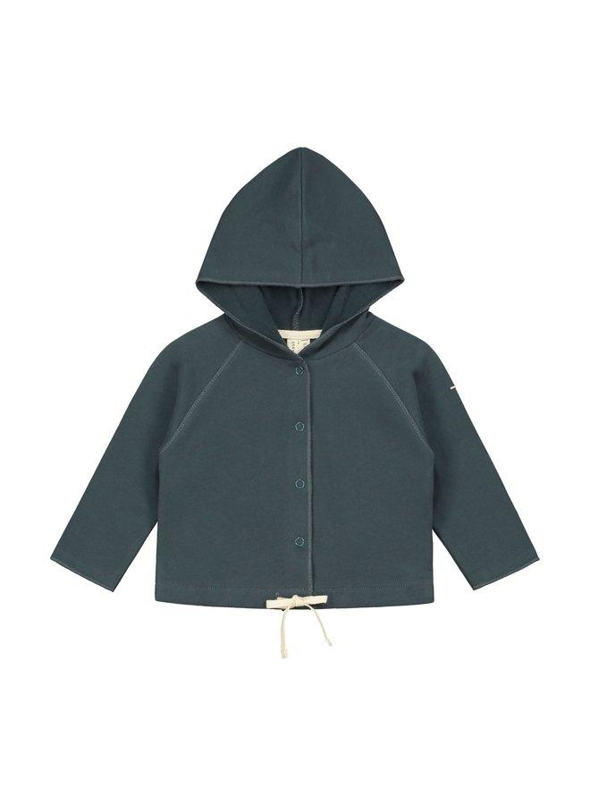 Baby Hooded Cardigan - Blue Grey