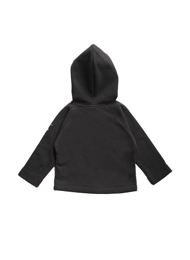 Baby Hooded Cardigan - Nearly Black
