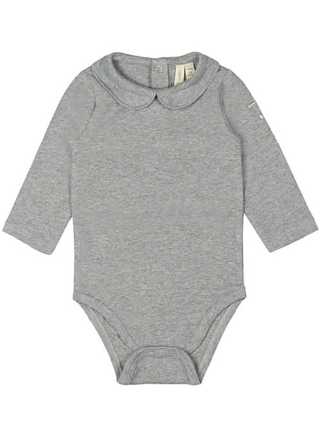 Baby Collar Onesie - Grey Melange