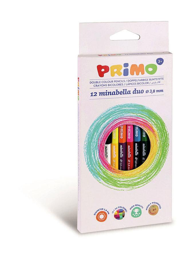 Primo - 12=24 DUO Minabella kleurpotloden ø3.8mm in doos
