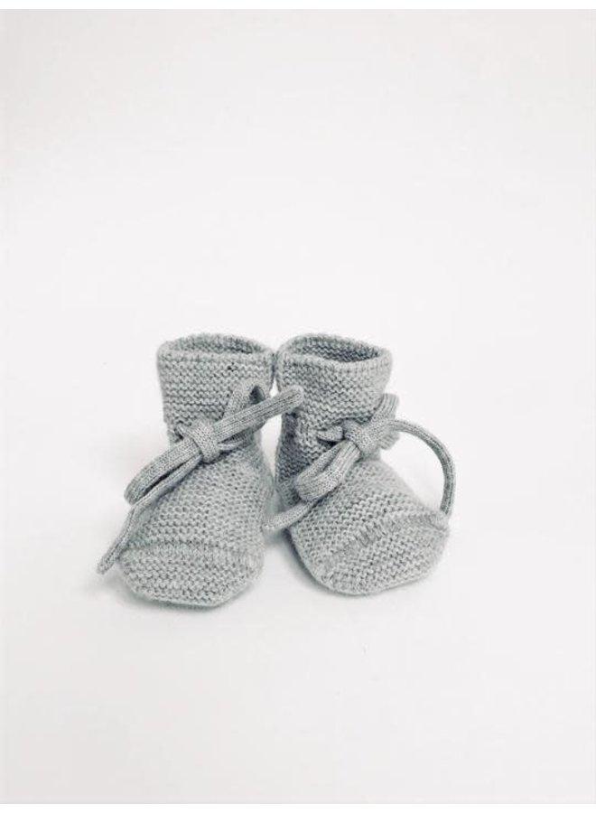 Hvid - Booties - Grey Melange