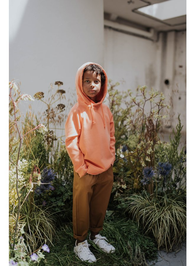 Hoodie - Washed Firy Red