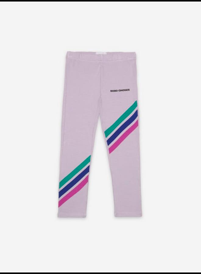 Crosswise Stripes Leggings