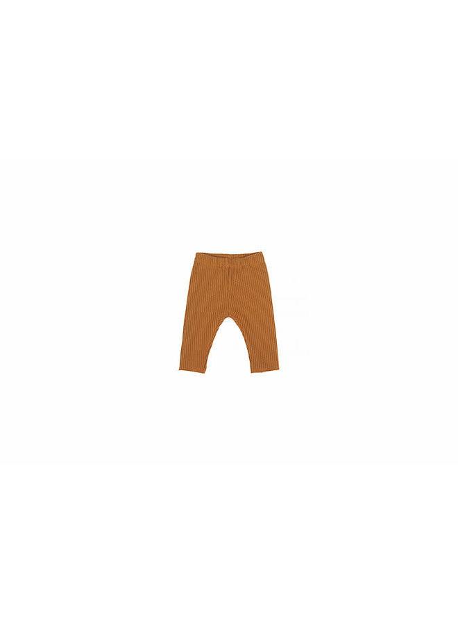 Baby Knit Rib Pants - Sand