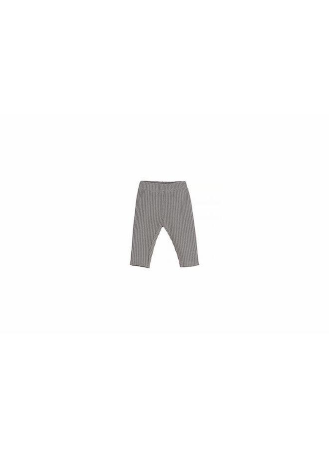 Nanami - Baby Knit Rib Pants - Grey