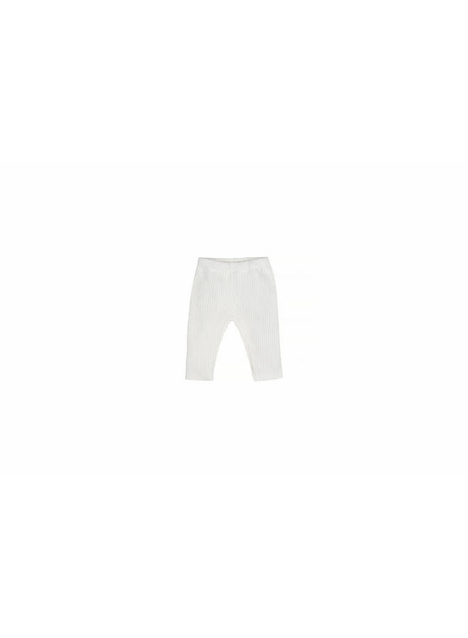 Baby Knit Rib Pants - Off White