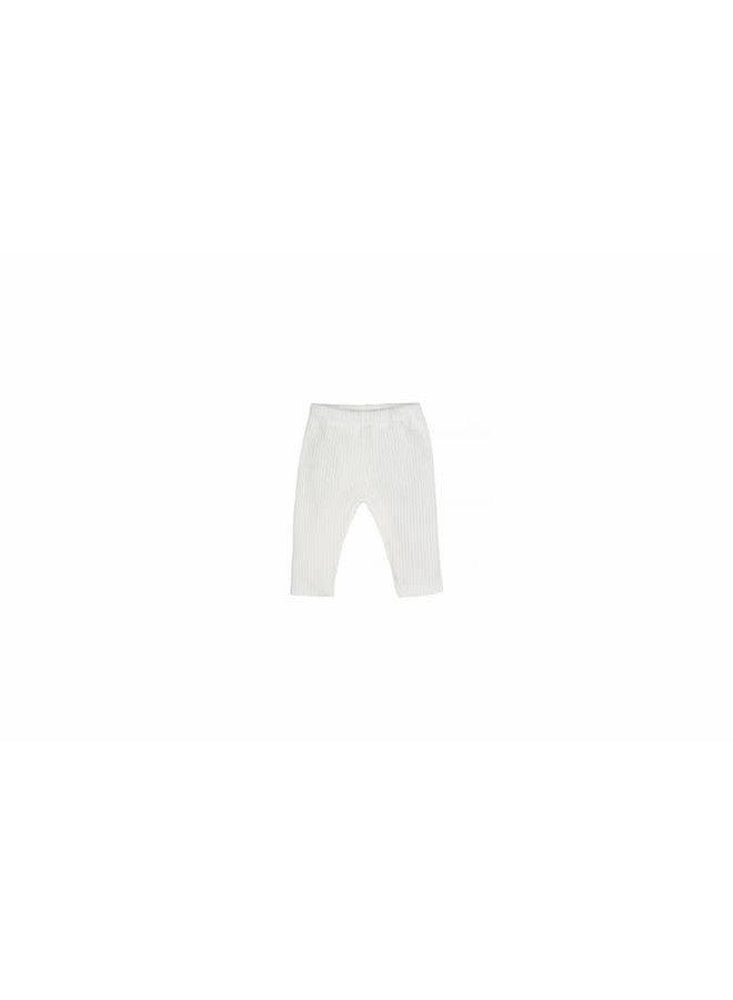 Nanami - Baby Knit Rib Pants - Off White