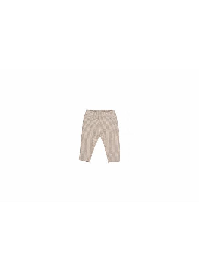 Baby Knit Rib Pants - Naturel