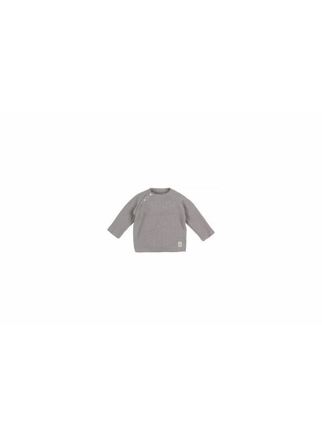 Baby Knit Rib Top - Grey