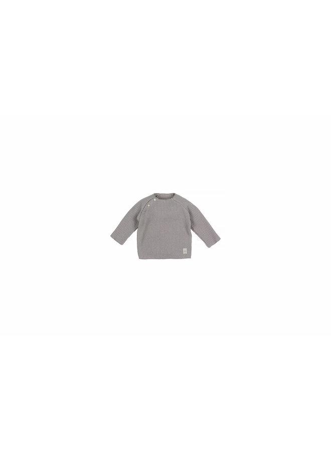 Nanami - Baby Knit Rib Top - Grey