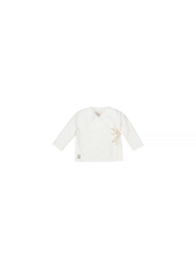 Nanami - Baby Rib Velvet Top - Off White