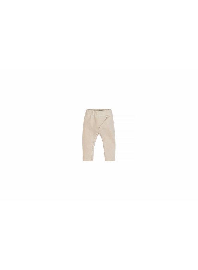 Baby Rib Velvet Pants - Naturel