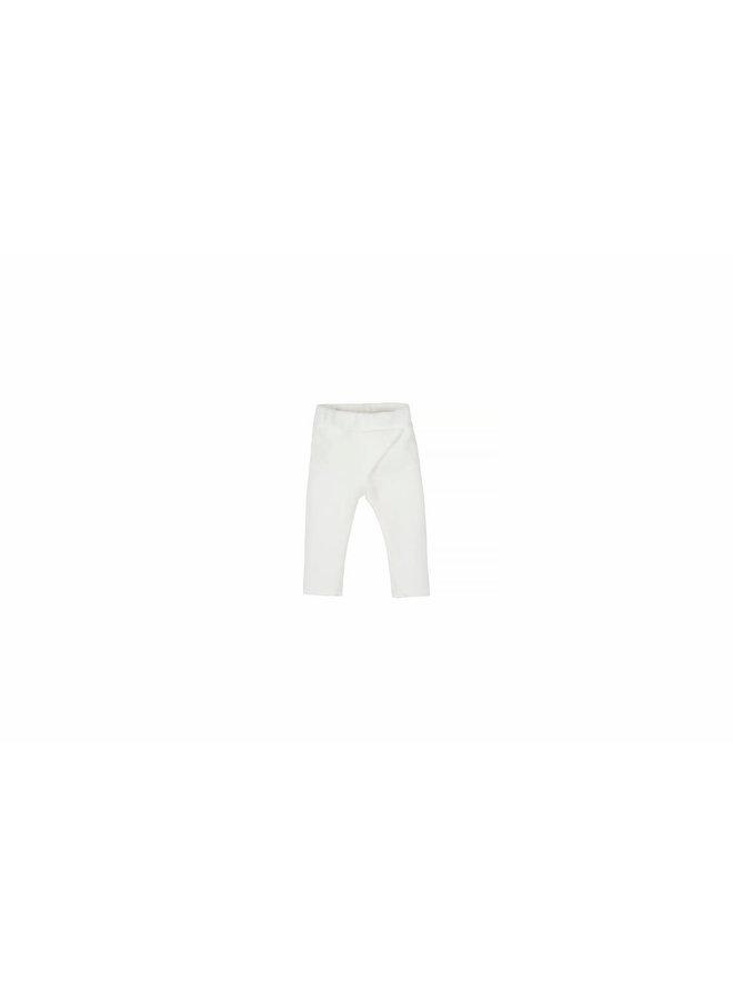 Baby Rib Velvet Pants - Off White