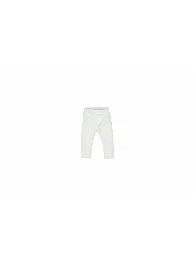 Nanami - Baby Rib Velvet Pants - Off White