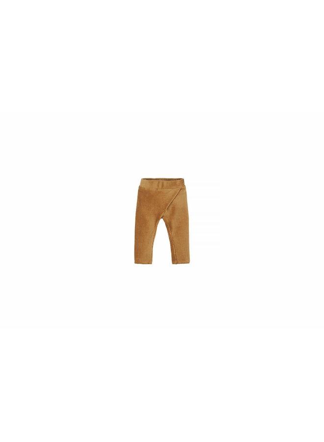 Baby Rib Velvet Pants - Sand