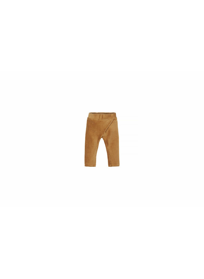 Nanami - Baby Rib Velvet Pants - Sand