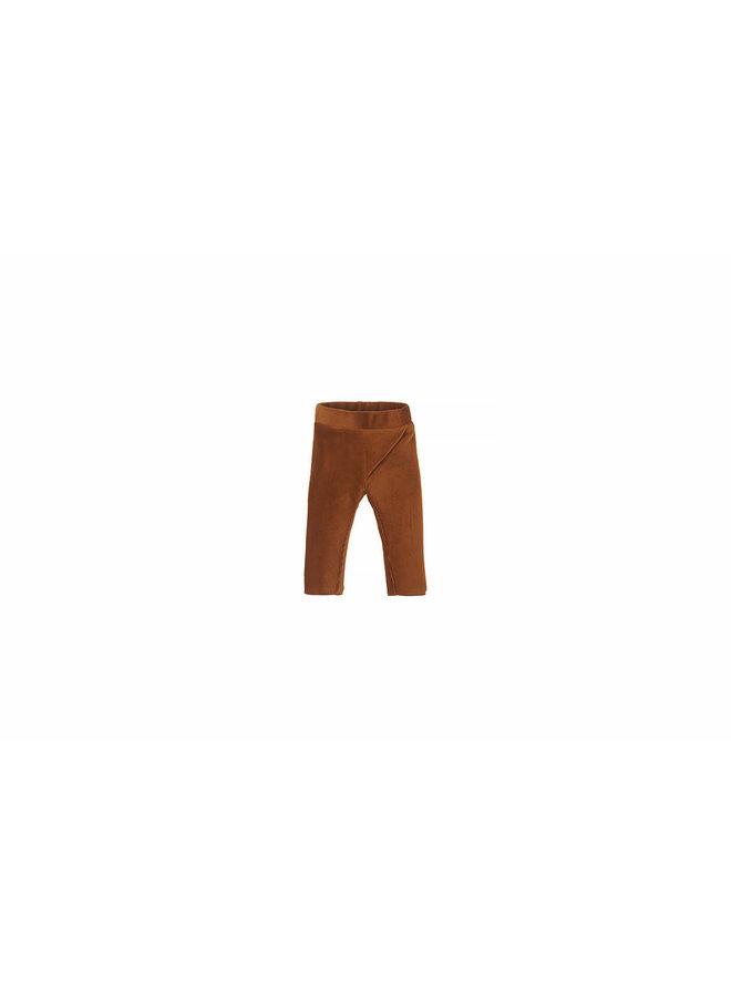 Nanami - Baby Rib Velvet Pants - Caramel