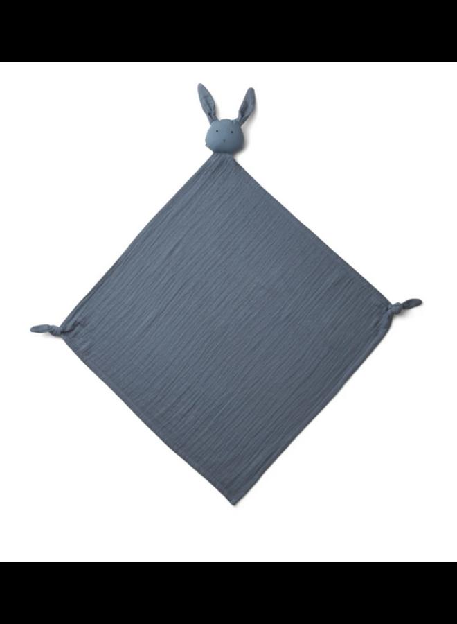 Robbie Multi Muslin Cloth - Rabbit Blue Wave