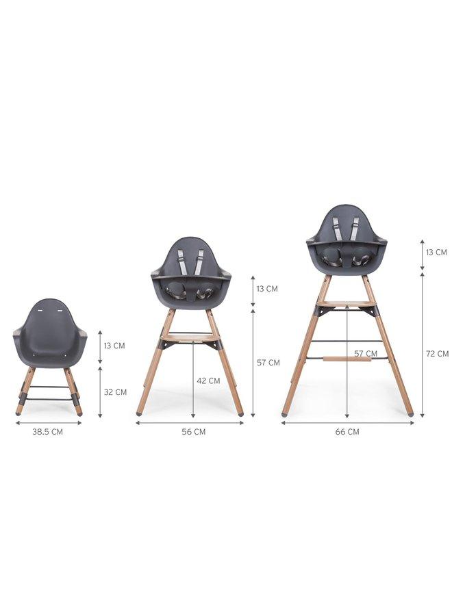 Evolu 2 - Kinderstoel - Naturel Antraciet - 2 in 1 + Beugel
