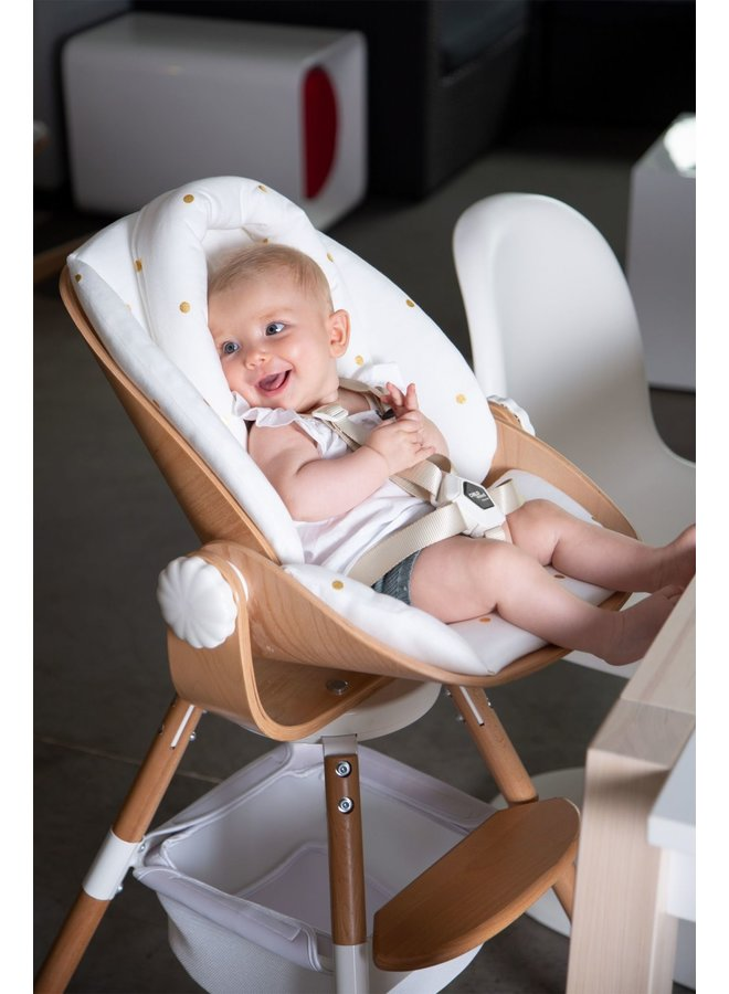 Evolu - Newborn Seat - Hout /  Natural White - 2 + ONE.80°