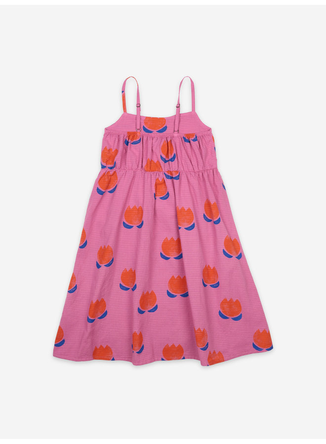 Chocolate Flowers All Over Woven Dress