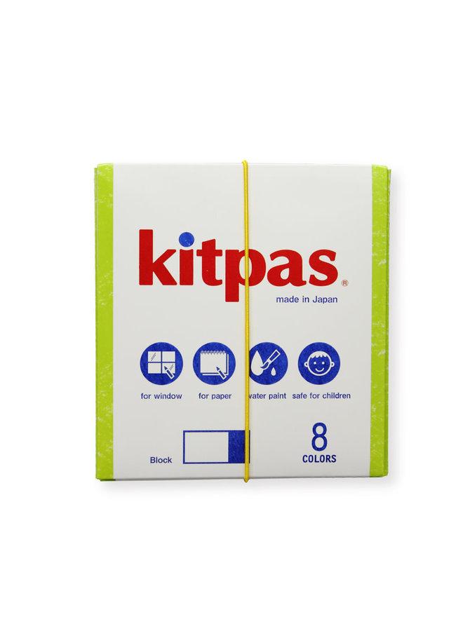 Kitpas - Blokkrijt - set van 8 stuks