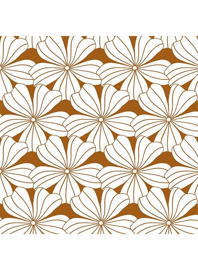 Flowers Cinnamon Brown - 70x160cm - Hoeslaken