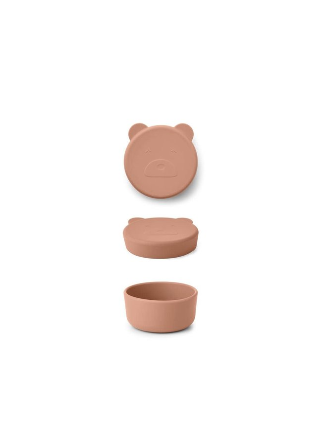 Carrie Snack Box Small - Mr bear Tuscany Rose