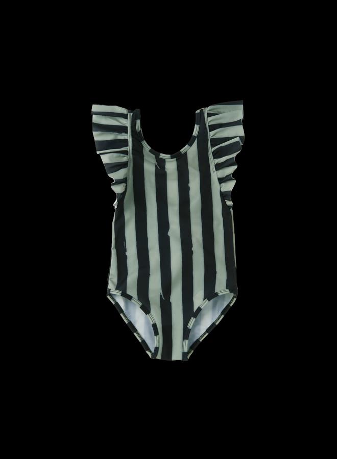 Bathing Suit Painted Stripe - Eucalyptus
