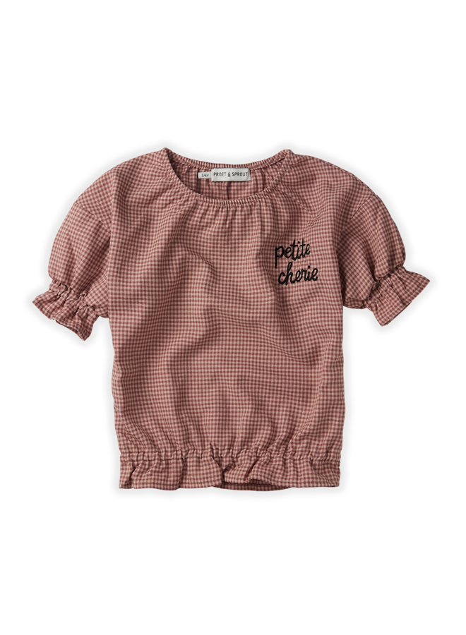 Sproet & Sprout - Blouse Ruffle Mini Check - Rose