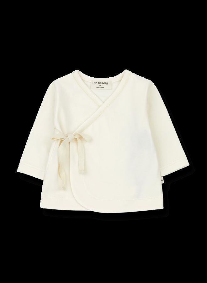 1+ in the family - Babette - Newborn Shirt - Ecru